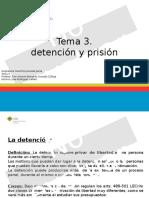 Detención y Prision Penal Tema 3