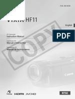 Canon Vixia Hf11 Manual