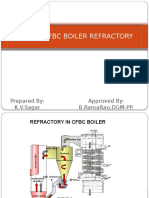 Refractory PPT IN 150 MW CFBC BOILER