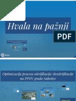 Optimizacija Procesa Nitrifikacije i Denitrifikacije Na PPOV Grada Subotice