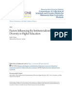 Factors Influencing the Institutionalization of Diversity in High