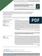 Simulação Da Propagação Subcritica de Fissuras Em Materiais