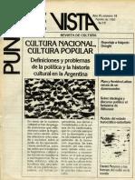 La Cultura de Los Sectores Populares Manipulación, Inmanencia o Creación Histórica