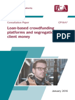 FCA Loan Based Crowdfundin Consultation Cp16-04
