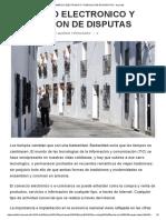 Comercio Electronico y Resolucion de Disputas - Ad Cordis