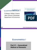 Econometrics I 21