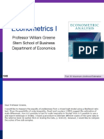 Econometrics I 18