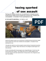 24 Oct 2007 - Cadet Sexually Assaulted With an Object