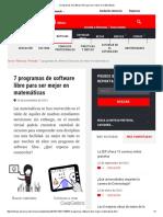 7 Programas de Software Libre Para Ser Mejor en Matemáticas