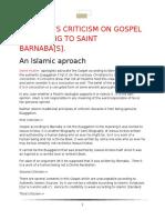 Refutation Of Gospel Of Barnabas
