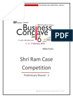 Shri Ram Case Competition 2016 Prelim 2