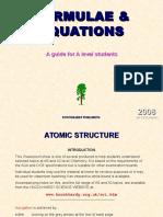 Formulae and Equations - Knockhardy