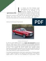 La Historia Del Ford Mustang