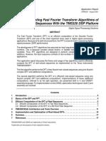 Spra291 Implementing Fast Fourier Transform Algorithms Of