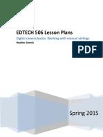 edtech 506 lesson plans