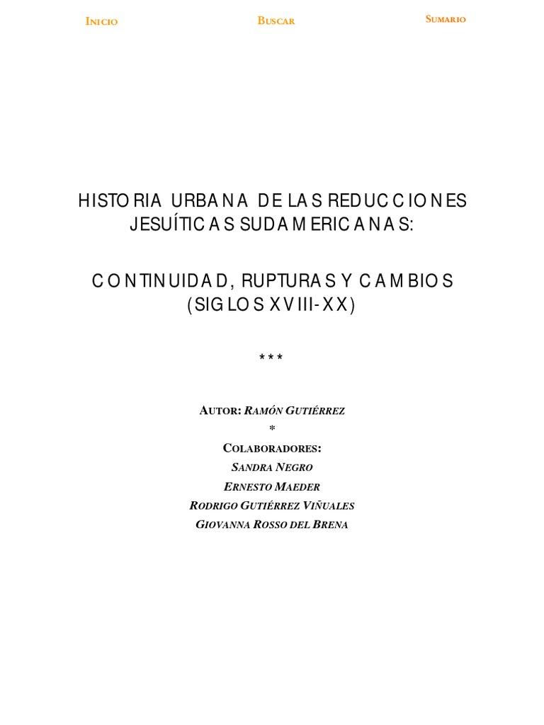 Historia Urbana De Las Reducciones Jesu Ticas Sudamericanas  # Muebles Damasco Pereira