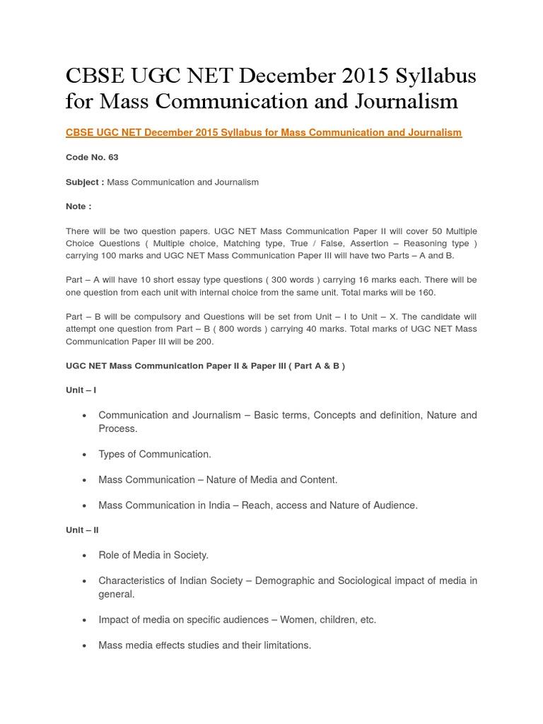 nature of mass media