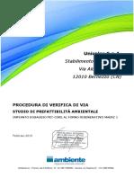 UNICALCE 2015 PROCEDURA DI VERIFICA DI VIA STUDIO DI PREFATTIBILITÀ AMBIENTALE IMPIANTO DOSAGGIO PET-COKE AL FORNO RIGENERATIVO MAERZ 1.