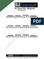 047 Beginner 16th Note Linear Fills