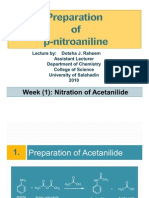 Preparation of p-nitroacetanilide- Dotsha J. Raheem