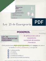 Ley 25 de Emergencia Social. Podemos
