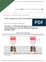 El Latín y El Derecho Romano en La Jurisprudencia Civil Del Tribunal Supremo Durante 2006