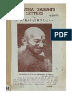 Mahatma Gandhi's Letters to P. N. Rajabhoj