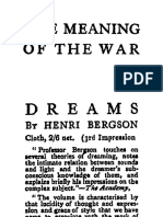 BERGSON, Henri - The Meaning of the War