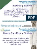 Bioetica y Muerte Encefálica