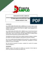 Lista de candidatos electos para congresistas por Arequipa y Puno