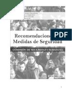 Recomendaciones Sobre Seguridad Ciudadana CNCS