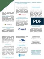Organismos e Instituciones Científicos Tecnológicos Dedicados a La Promoción