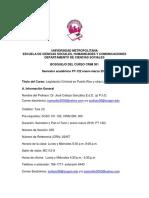 BOSQUEJO de CURSOS 301 Rev Con Fechas de Evaluacion