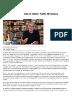 Carlo Ginzburg, El Estado Monopoliza El Terror