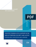 EUROPEAN COURT OF AUDITORS - THE EFFECTIVENESS OF EU SUPPORT IN THE AREA OF FREEDOM, SECURITY AND JUSTICE FOR BELARUS, MOLDOVA AND UKRAINE