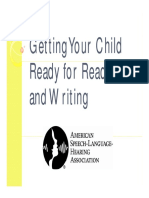 Getting Your Child Ready