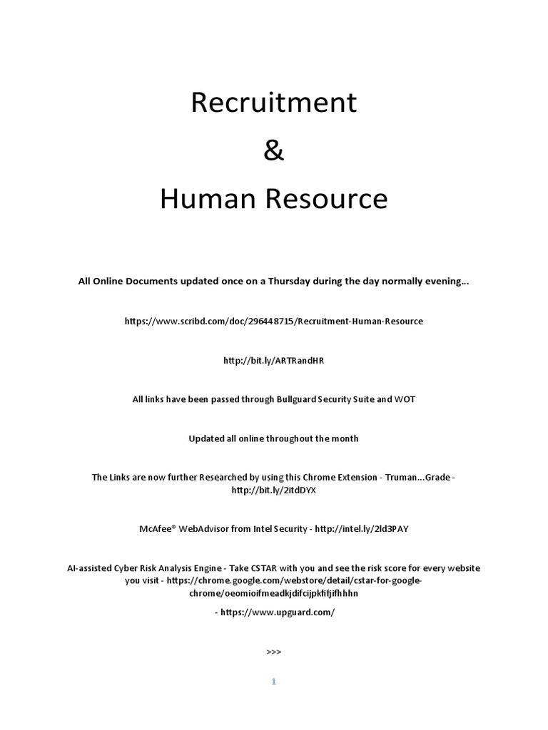 Recruitment Human Resource Recruitment Signature