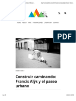 Construir caminando- Francis Alÿs y el paseo urbano | Martina Deren