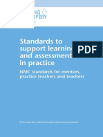 Standards to Support Learning and Assessment in Practice n Mc