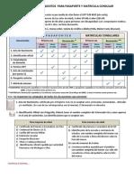 Requisitos Pasaporte y Matricula