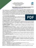 Edital Preenchimento Vagas 2016 Retificado - UFG