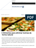 4 Alimentos Para Eliminar Toxinas de Forma Natural - Dieta Alcalina