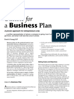 Outline for a Business Plan