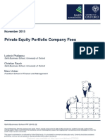 Private Equity Portfolio Company Fees
