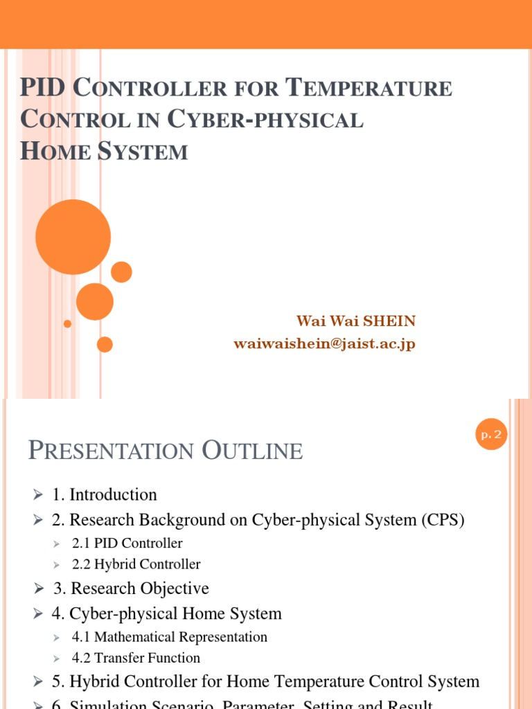 PID Controller for Temperature Control in Cyber-physical