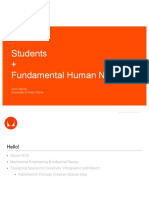 Students + Fundamental Human Needs