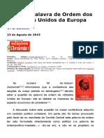 LÊNIN, V. - Sobre a Palavra de Ordem Dos Estados Unidos Da Europa