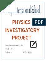 Physics Investigatory Project Abhishek class xii