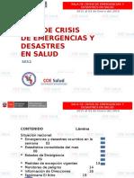 Semana 52 Sala de Crisis en Emergencias y Desastres Se 52 Del 27 de Diciembre Del 2015 Al 02 de Enero Del 2016