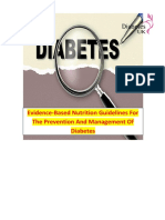 Evidence Based Nutrition Guidelines For The Prevention And Management Of Diabetes